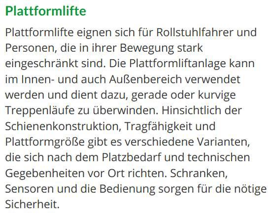 Hublifte in 99084 Erfurt